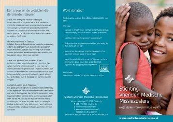 folder Medische Missiezusters - Stichting Vrienden Medische ...