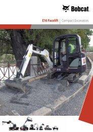 E16 Facelift | Compact Excavators - Bobcat.eu