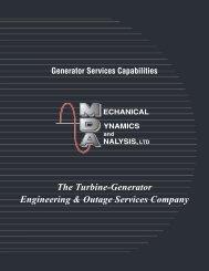 One Call One Source Powerful Solutions - Turbine-Generator Repair