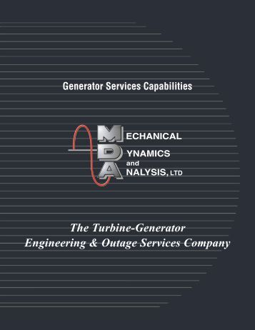 One Call One Source Powerful Solutions - Turbine-Generator Repair