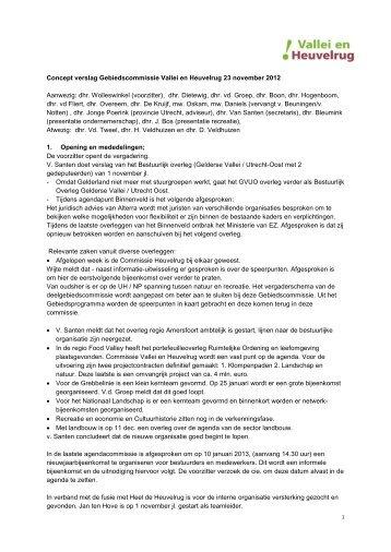 Concept verslag gebiedscommissie 23 november - Projectbureau ...