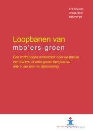 Loopbanen van mbo'ers groen (KBA) - Aequor