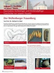 Der Weltenburger Frauenberg - Regensburger Stadtzeitung