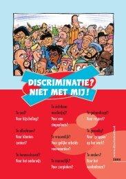 Download de brochure 'Discriminatie? Niet met mij!' - Art.1