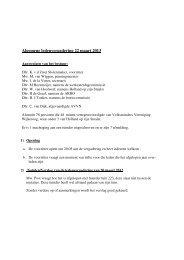 Verslag algemene ledenvergadering 22 maart 2013 - VTV Wijkeroog