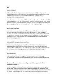 FAQ Wat is zelfdoding? - Vlaams Agentschap Zorg en Gezondheid