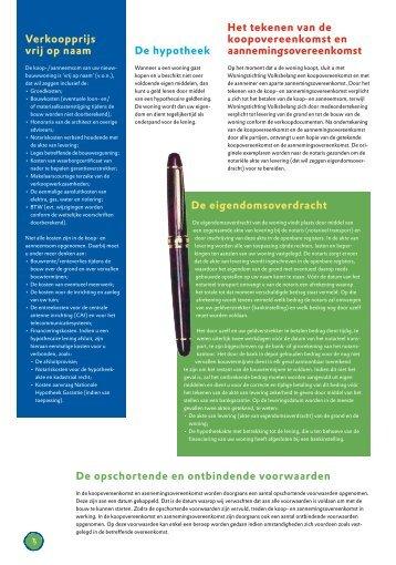 De opschortende en ontbindende voorwaarden - Postweg Wagenberg