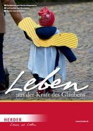 aus der Kraft des Glaubens - Verlag Herder