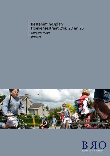 Bestemmingsplan Hoevensestraat 21a, 23 en 25 - Gemeente Vught