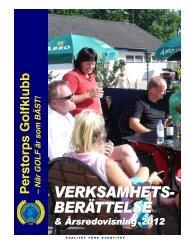 Verksamhetsberättelse 2012 - Perstorps GK