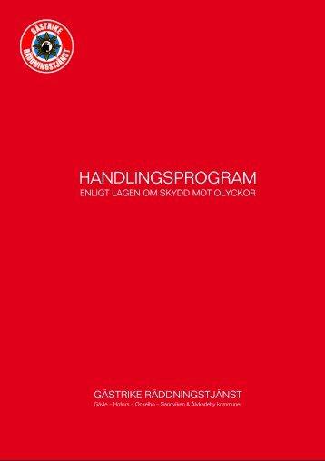HANDLINGSPROGRAM - Gästrike Räddningstjänst