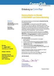E-POSTBRIEF und Online-Marketing - Commclubs Bayern