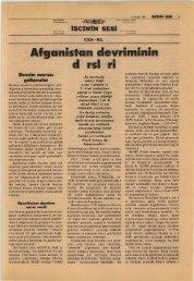 Afganistan Devriminin Dersleri II - TKP.Net