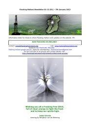 Fracking Matters Newsletter 01-13 - Fracking Free Ireland