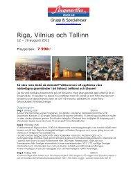 Riga, Vilnius och Tallinn - Lingmerths Buss