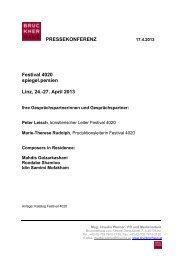 Presseunterlagen zum Download als PDF (26KB) - Brucknerhaus