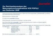 Zur Reichweitenanalyse des Meinungsforschungsinstituts VOX ...
