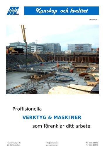verktyg & maskiner - SKB Väst AB