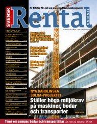 Ställer höga miljökrav på maskiner, bodar och ... - Svensk Rental