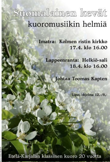 Suomalainen kevät - Etelä-Karjalan maakuntaportaali
