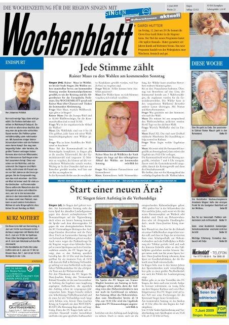Singener Wochenblatt vom 6. Juni 2007