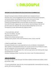 opstart og vedligeholdelse af dalsouple gummigulve - Storm agentur