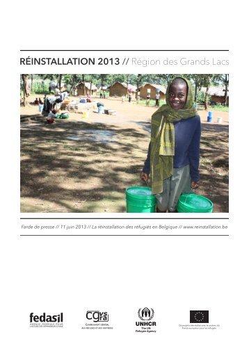 Réinstallation 2013 : Région des Grands Lacs - Réinstallation de ...