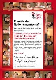 Freunde der Nationalmannschaft»! - Handballworld