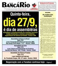 Quinta-feira, é dia de assembléias - Bancários Rio de Janeiro