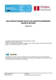 Titel: Multidisciplinaire richtlijn Angststoornissen ... - Kwaliteitskoepel