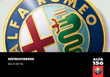 604.31.037 Alfa 156 Instructie - van der Zee van der Zee