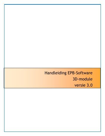 Handleiding EPB-Software 3D-module versie 3.0 - Leefmilieu Brussel