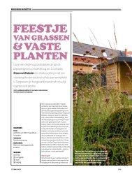 Artikel Bloem & plant special Tuinontwerpen 2013 - Van Elsäcker Tuin