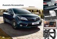 Avensis accessoires brochure (belgische versie) - Toyota