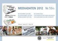 Mediadaten 2012 Nr. 55/II - Bietigheimer Zeitung