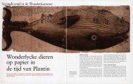 Wonderlycke dieren op papier In de tijd van Plantin