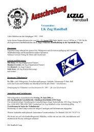 Veranstalter: LK Zug Handball - Handballworld