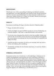 DEFINITION POLICY FÖRHÅLLNINGSSÄTT