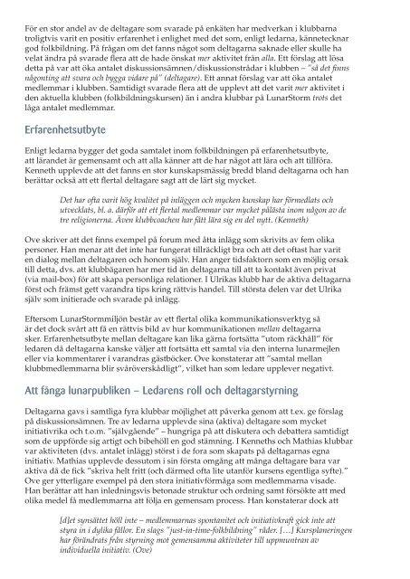 """Folkbildning på """"ungdomssajt"""" – utvärdering av fyra kurser på ..."""