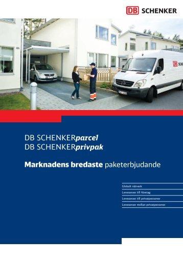 DB SCHENKERparcel DB SCHENKERprivpak Marknadens ...