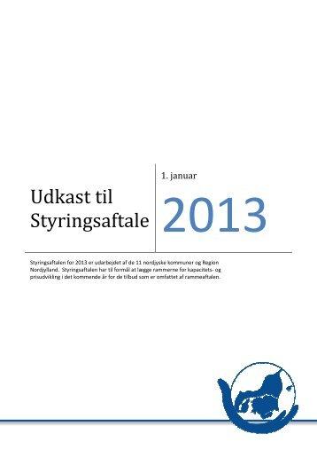 Udkast til styringsaftale 2013 - BUU 050912 - Rebild Kommune