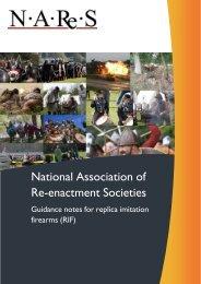 Replica imitation firearms - National Association of Re-enactment ...