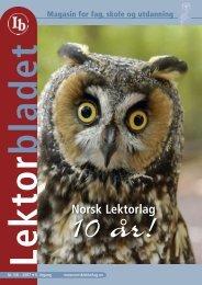 Lektorbladet nr 5 og 6 - Norsk Lektorlag