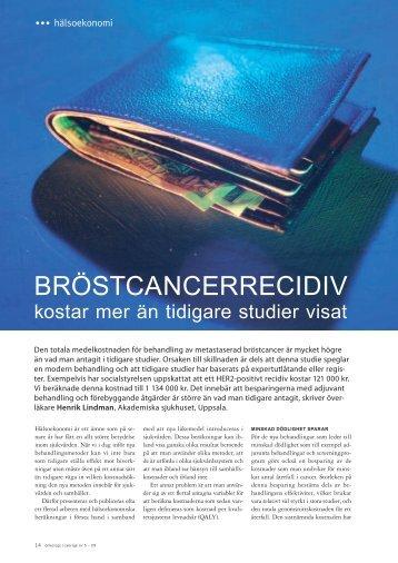 Bröstcancerrecidiv - Onkologi i Sverige