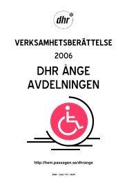 VERKSAMHETSBERÄTTELSE 2006 - DHR Ånge - Startsida