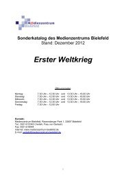Erster Weltkrieg - Medienzentrum Bielefeld