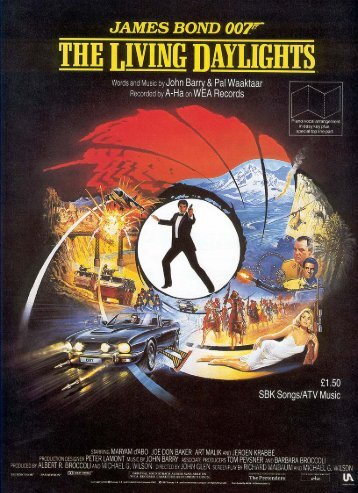 The Living Daylights - sheet music - John Barry