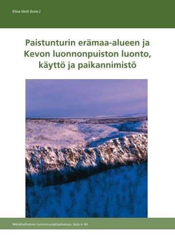 a161.pdf (9 MB) - Metsähallituksen julkaisut