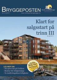 Bryggeposten Nr. 01 2011 - Nordre Jarlsberg Brygge