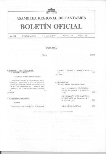 BOLETÍN OFICIAL - Parlamento de Cantabria